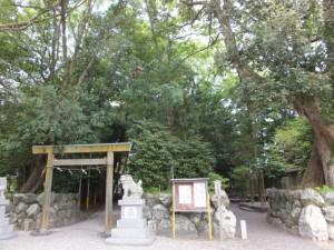 上社への参道とお伊勢さん125社志等美神社他への参道