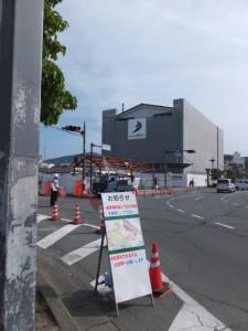 再開発中の伊勢市駅前