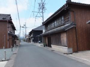 季節料理 旅館 栄亭前から田丸大橋付近の庚申堂へ