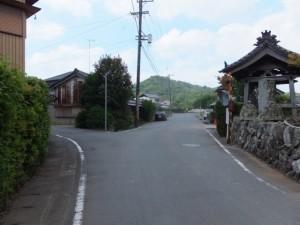 永昌寺付近のY字路