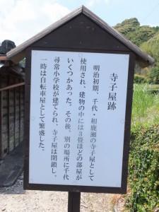 寺子屋跡の説明板
