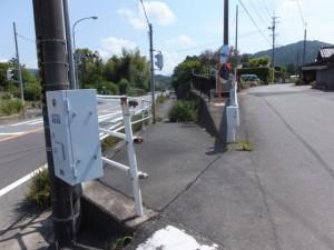 三重交通 神瀬 バスのりばの先の分岐付近