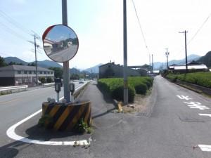 国道42号線からの分岐(大台町下楠)