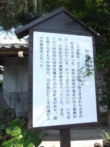 旅館 阿波屋の説明板