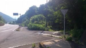 国道42号線からの分岐(石碑 三瀬谷園付近)