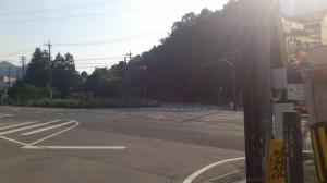上三瀬交差点(国道42号線)
