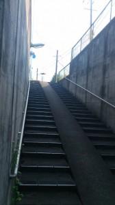 上三瀬交差点の地下道から(国道42号線)