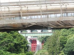 船木橋から望む三瀬谷ダム