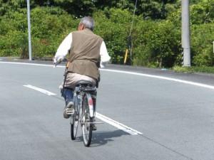 船木神社への参道入口で出会ったおじいさん