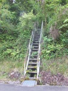山側への階段(船木橋~三瀬坂峠 三瀬川登口)