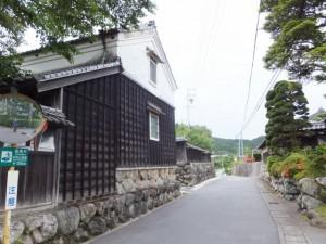 立派な石垣(瀧原宮~祝詞橋)
