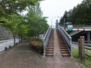 おおみやアメニティ小公園と歩道橋(国道42号線 出谷交差点付近)