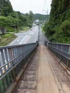 大紀町滝原と書かれた歩道橋から阿曽方向へ