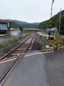JR紀勢本線 阿曽踏切から望む滝原駅方向