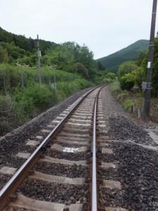 JR紀勢本線 阿曽踏切から望む阿曽駅方向
