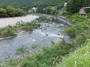 国道42号線から望む大内山川(阿曽~藤ヶ野)