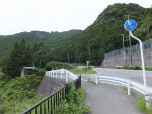 国道42号線から旧街道への分岐(阿曽~藤ヶ野)