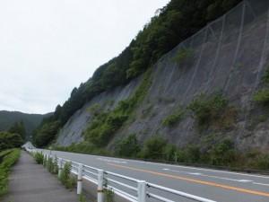 大内山川と国道42号線(藤ヶ野~柏野)