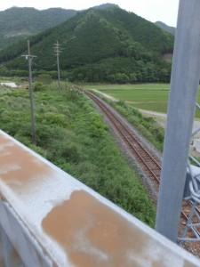 国道42号線から望むJR紀勢本線(藤ヶ野~柏野)