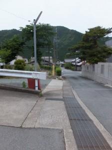 国道42号線柏野交差点へ(金谷山 寳藏寺付近)