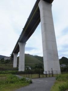 紀勢自動車道の高架下(一の谷踏切付近)
