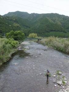 坂津橋から望む大内山川