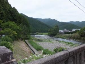 不動野橋から望む大内山川