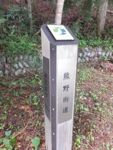 「熊野街道 新宮まで 110km」の道標