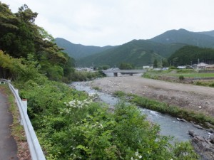 芦谷橋付近から望む江尻橋