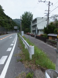 国道42号線の側道(歩道?)