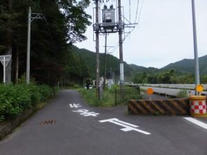 国道42号線からの分岐(大内山大師堂付近)