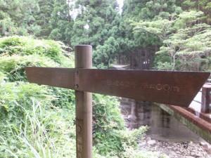 高野橋(栃古川)、手前を左折