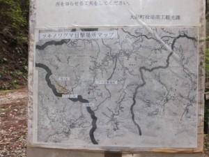 ツキノワグマ目撃場所マップ(ツヅラト峠登口付近)