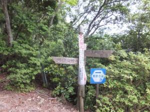 「大内山村へ、紀伊長島町へ 志子」の道標(ツヅラト峠)