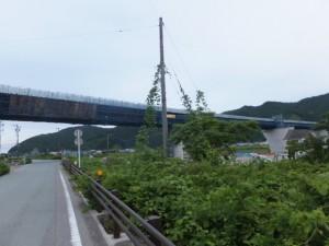 工事中の紀勢自動車道(角田橋~国道42号線)
