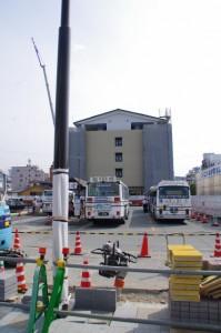 再開発(整備)工事が続く伊勢市駅前広場