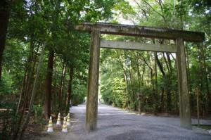 北御門参道の鳥居(外宮)
