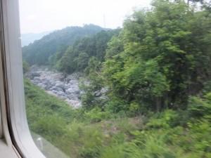 JR紀勢本線から望む大滝峡