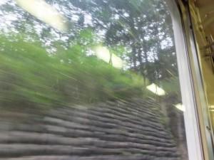JR紀勢本線にて隧道に入る直前