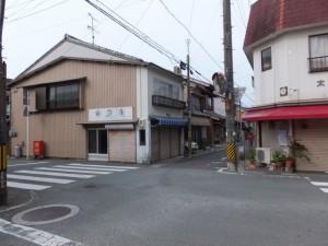 十字路を右折(濱口熊嶽邸跡~長島神社)