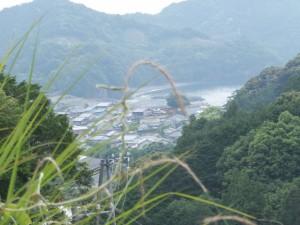 平方峠からの海野の眺望
