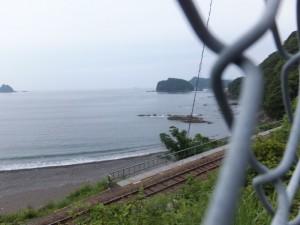 国道42号からの眺め(古里踏切~古里トンネル)