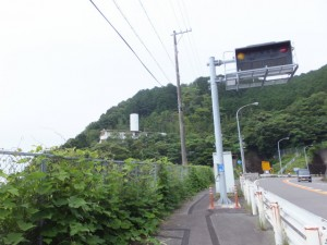 国道42号(古里トンネルの手前)