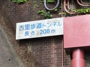 古里歩道トンネル(長さ208m)