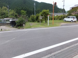 JR三野瀬駅への道標