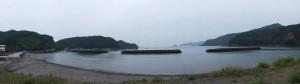 国道42号からの三浦漁港周辺パノラマ
