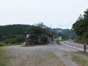 「熊野古道 ←始神峠」の道路標識手前(国道42号)