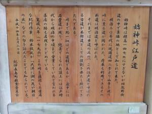 始神峠江戸道の説明板