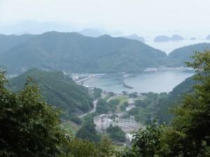 始神峠からの三浦漁港方面の眺望