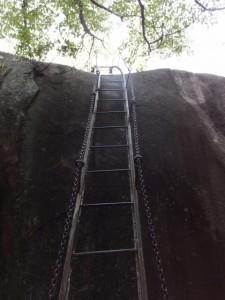天狗倉山 山頂の巨石へ